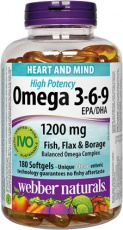 Webber Naturals Omega 3-6-9 Extra Strenght 150 tabliety