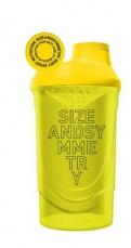 SizeAndSymmetry Šejkr 600ml - žltý