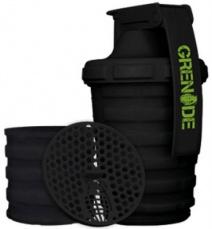 Grenade Šejkr 600 ml s dávkovačem - čierny