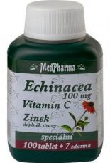 MedPharma Echinacea 100 mg + vitamin C + zinok 107 tabliet