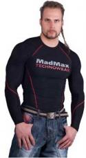 Mad Max MSW902 Kompresní tričko s dlhým rukávom čierno/červené