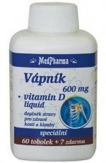 MedPharma Vápník 600 mg + Vitamín D 67 kapsúl