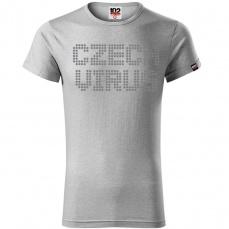 Czech Virus Dotted Pánske triko svetle šedé