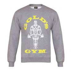 Gold's Gym pánska mikina bez kapuce šedá