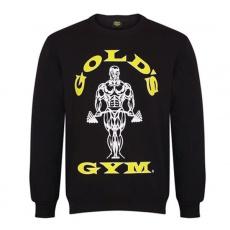 Gold's Gym pánska mikina bez kapuce čierna