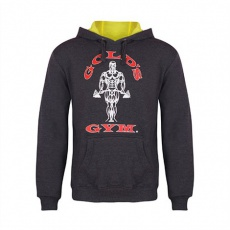 Gold's Gym pánska mikina tmavo šedá s červeným logom