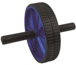 Spokey Posilňovacie kolečko double roller 18,5cm – čiernomodré