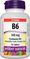 Webber Vitamin B6 100mg 90 tabliet