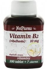 MedPharma Vitamin B2 (riboflavin) 10 mg 107 tabliet