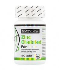 Survival Zinek Chelated Fair Power 100 tabliet