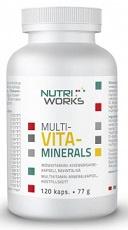 NutriWorks MULTI-VITA-MINERALS 120 kapsúl (77g)