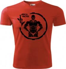 Jirka Vacek Pánske tričko červené s čiernym logom