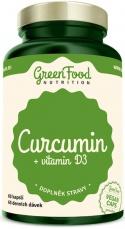 GreenFood Curcumin (Kurkumin) + vitamin D3 60 kapsúl