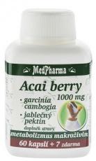 MedPharma Acai berry 1000 mg + garcinia cambogia + jablečný pektin 67 kapsúl