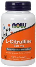 Now Foods L-Citrulline 750mg 90 kapsúl