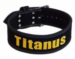 Titánus fitness opasok Powerlifting čierny (jednoduchá prezka)