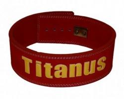 Titánus fitness opasok s pákovou prackou 10/8 červený