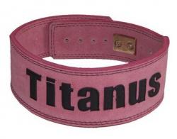 Titánus fitness opasok s pákovou prackou ružový