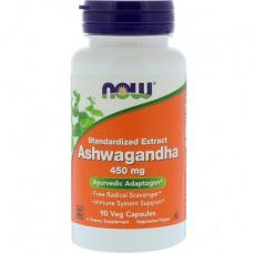 Now Foods Ashwaganda (Vitánie snodárná) 450 mg 90 kapsúl
