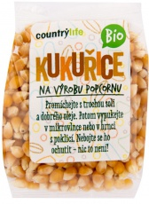Country life BIO kukurica na výrobu popcornu 200g