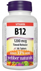 webber Naturals Vitamin B12 80 tabliet
