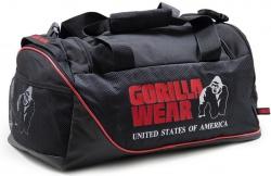 Gorilla Wear Športová taška Jerome Gym Bag Black/Red