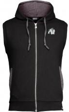 Gorilla Wear Pánska vesta Springfield S/L Zipped Hoodie Black