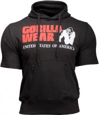 Gorilla Wear Pánska mikina Boston Short Sleeve Hoodie Black