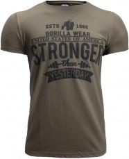 Gorilla Wear Pánske tričko Hobbs T-shirt Army Green