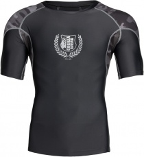 Gorilla Wear Pánske tričko Cypress Rashguard Short Sleeves Black/Grey camo