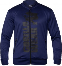 Gorilla Wear Pánska mikina Ballinger Track Jacket Navy Blue/Black