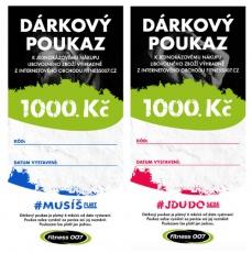 Darčekové poukazy Fitness007 1000 Kč