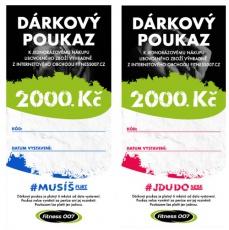 Darčekové poukazy Fitness007 2000 Kč