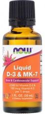 Now Foods Tekutý Vitamin D3+K2 (MK-7) 30 ml
