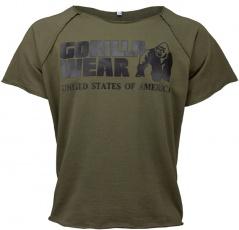Gorilla Wear Pánske tričko s krátkym rukávom Classic Work Out Top Army Green