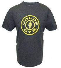 Gold's Gym Pánske tričko Plate Logo tmavo šedé