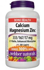 Webber Naturals Calcium Magnesium Zinc 200 kapsúl
