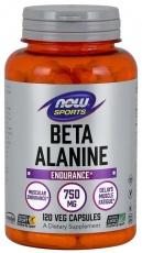 Now Foods Beta Alanine 750 mg 120 rostlinných kapsúl