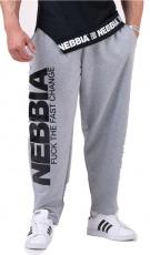 Nebbia Beast Mode On ikonické tepláky 186 šedé