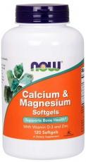 Now Foods Calcium & Magnesium with Vitamin D3 & Zinc 120 kapsúl