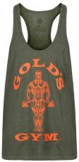 Gold's Gym Pánske tielko GGVST003 zelená/oranžová
