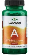 Swanson Vitamin A 10000 IU 250 kapsúl