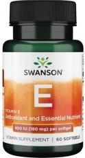 Swanson Vitamin E 400 IU 60 kapsúl