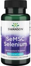 Swanson SeMSC Selenium 200 mcg 120 kapsúl