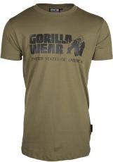 Gorilla Wear Pánske tričko s krátkym rukávom Classic T-shirt Army Green