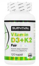 Survival Vitamin D3+K2 Fair Power 120 kapsúl
