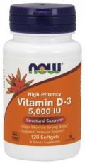 Now Foods Vitamin D3 5000 IU 120 kapsúl