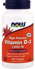 Now Foods Vitamin D3 1000 IU 360 kapsúl