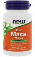 Now Foods Raw Maca 750 mg 30 rostlinných kapsúl