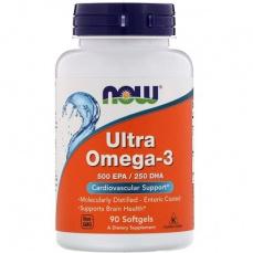 Now Foods Ultra Omega 3 500 EPA/250 DHA 90 kapsúl